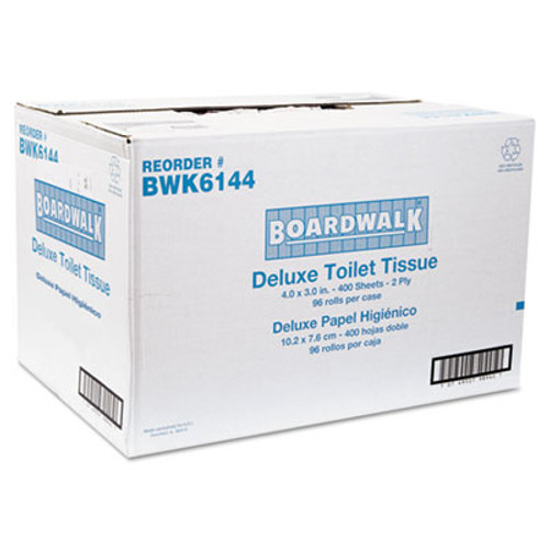 Boardwalk Two-Ply Toilet Tissue  Septic Safe  White  4 x 3  400 Sheets Roll  96 Rolls Carton (BWK 6144)