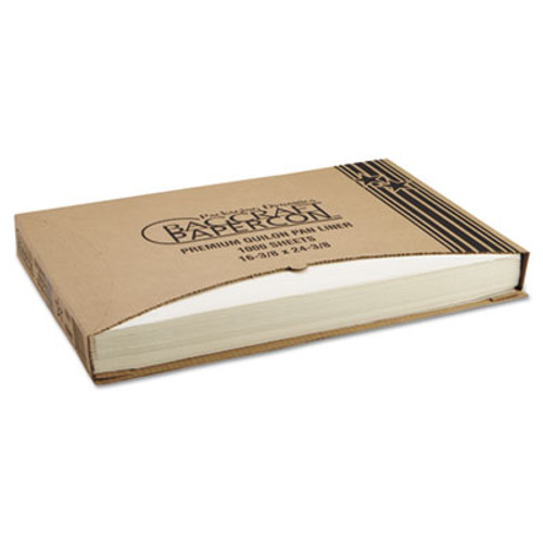 Bagcraft Grease-Proof Quilon Pan Liners  16 3 8 x 24 3 8  White  1000 Sheets Carton (BGC 030001)