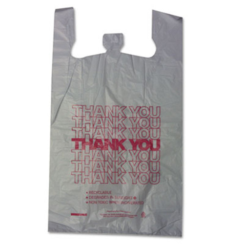 Barnes Paper Company Thank You High-Density Shopping Bags  18  x 30   White  500 Carton (BPC 18830THYOU)