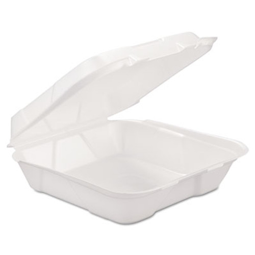 GEN Foam Hinged Carryout Container  1-Comp  White  9 1 4 X 9 1 4 X 3  200 Carton (GEN HINGEDL1)