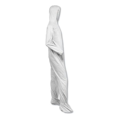 KleenGuard A40 Elastic-Cuff  Ankle  Hood   Boot Coveralls  White  2X-Large  25 Carton (KCC 44335)