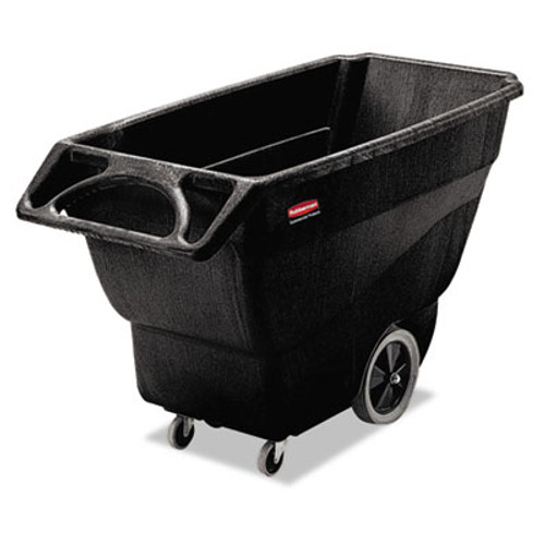 Rubbermaid Commercial Structural Foam Tilt Truck, Rectangular, 600lb Cap, Black (RCP 1011 BLA)
