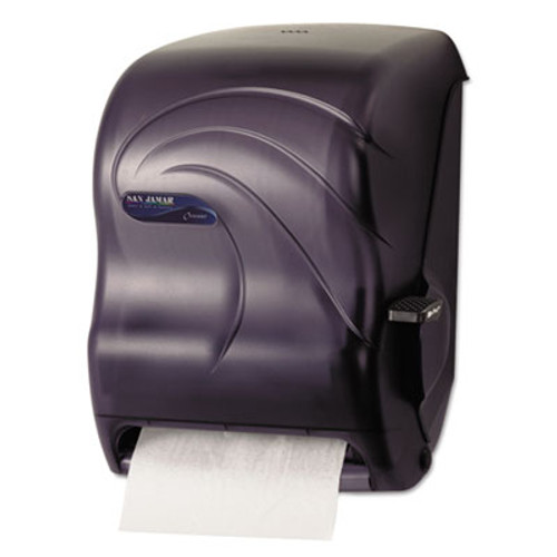 San Jamar Lever Roll Towel Dispenser  Oceans  Black Pearl  12 15 16 x 9 1 4 x 16 1 2 (SAN T1190TBK)
