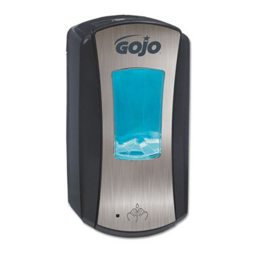 GOJO LTX-12 Touch-Free Dispenser  1200 mL  5 75  x 3 33  x 10 5   Brushed Chrome Black (GOJ 1919-04)