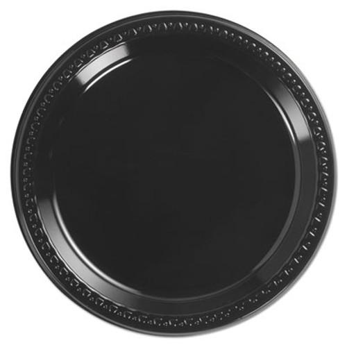 Chinet Heavyweight Plastic Plates  9  Diamter  Black  125 Pack  4 Packs CT (HUH 81409)