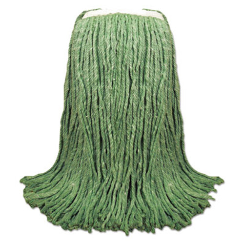 Boardwalk Cut-End Yarn Mop Head  Green  1 1 4  Headband  12 Carton (UNS 8024G)