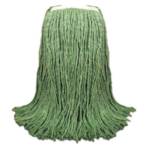 Boardwalk Cut-End Yarn Mop Head  Green  1 1 4  Headband  12 Carton (UNS 8024G)