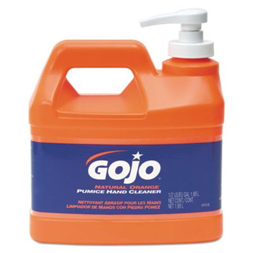GOJO NATURAL ORANGE Pumice Hand Cleaner  Citrus  0 5 gal Pump Bottle  4 Carton (GOJ 0958-04)
