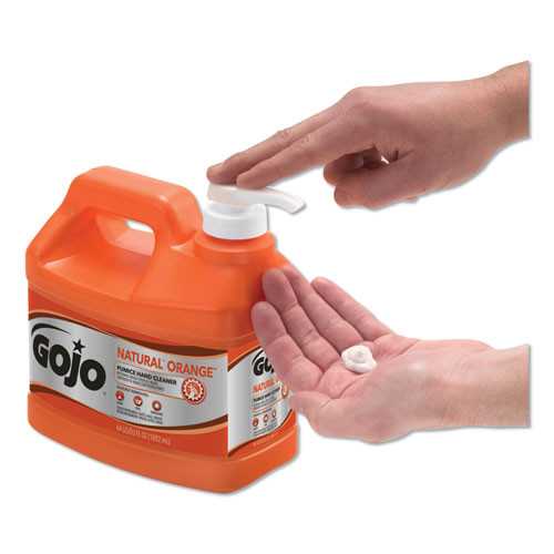 GOJO NATURAL ORANGE Pumice Hand Cleaner  Citrus  0 5 gal Pump Bottle  4 Carton (GOJ 0958-04)
