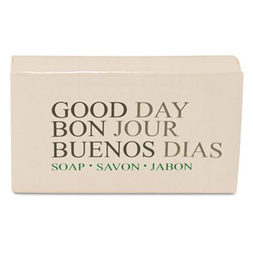 Good Day Amenity Bar Soap  Pleasant Scent    1 1 2  500 Carton (GTP 390150)
