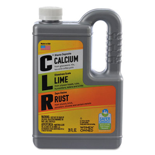 CLR Calcium  Lime and Rust Remover  28 oz Bottle  12 Carton (JEL CL-12)