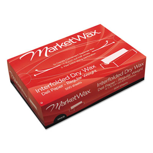 Bagcraft QF12 Interfolded DryWax Deli Paper  12 x 10 3 4  White  500 Box  12 Boxes Carton (BGC 011012)