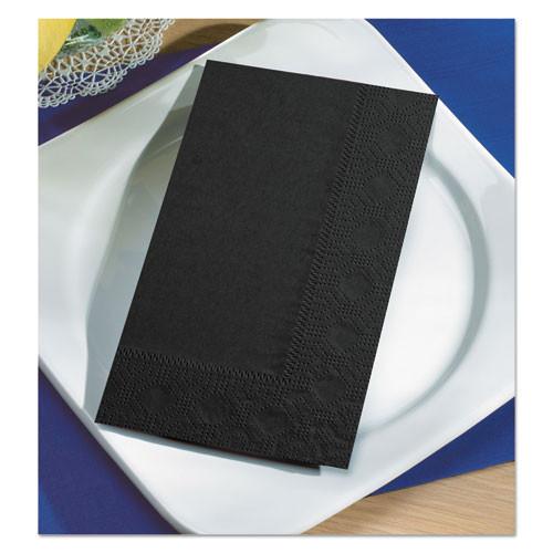 Hoffmaster Dinner Napkins  2-Ply  15 x 17  Black  1000 Carton (HFM 180513)