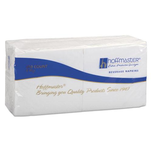 Hoffmaster Beverage Napkins  2-Ply 9 1 2 x 9 1 2  White  Embossed  1000 Carton (HFM 180300)