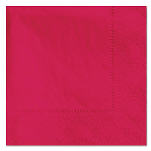 Hoffmaster Beverage Napkins, 2-Ply, 9 1/2 x 9 1/2, Red, 1000/Carton (HFM 180311)