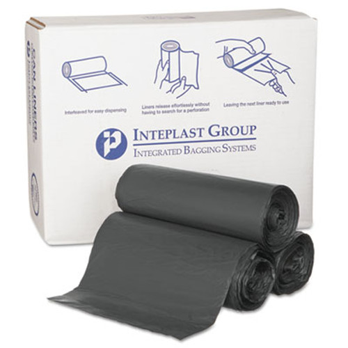 Inteplast Group High-Density Commercial Can Liners  55 gal  0 87 mil  36  x 60   Black  150 Carton (IBS S366022K)