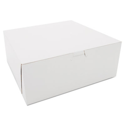 SCT Bakery Boxes, White, Kraft, 10W x 10D x 4H (SCH 0973)
