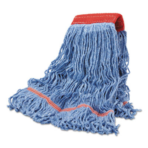 Boardwalk Cotton Mop Heads  Cotton Synthetic  Large  Looped End  Wideband  Blue  12 CT (BWK LM30311L)