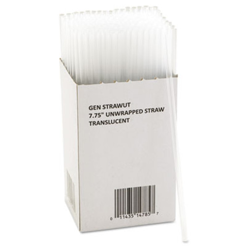 GEN Unwrapped Jumbo Straws  7 3 4   Translucent  225 Pack  50 Packs Carton (GEN STRAWUT)