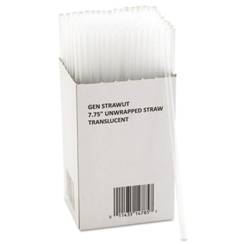 GEN Unwrapped Jumbo Straws  7 3 4   Translucent  225 Pack  50 Packs Carton (GEN STRAWUT)