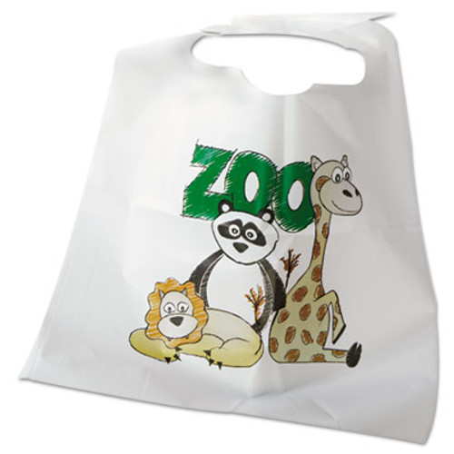 Atlantis Plastics Disposable Child-Size Poly Bibs  Zoo Farm Pattern  Children's  250 Carton (ATL2BBCZF)