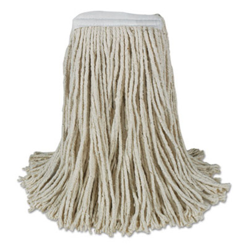 Boardwalk Banded Cotton Mop Heads, Cut-End, 20oz, White, 12/Carton (BWK CM20020)