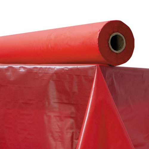 "Atlantis Plastics Plastic Table Cover, 40"" x 300 ft Roll, Red (ATL 2TCR300)"