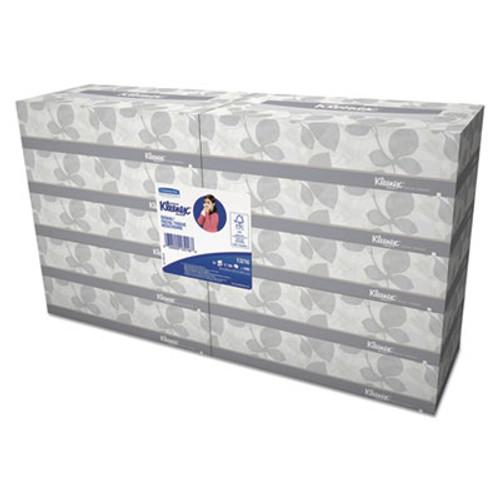 Kleenex White Facial Tissue  2-Ply  White  100 Sheets Box  10 Boxes Bundle  6 Bundles Carton (KCC 13216)