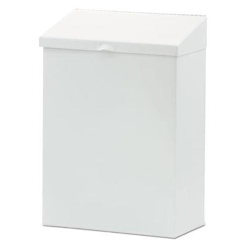 HOSPECO Feminine Hygiene Waste Receptacle  Metal  White (HOS ND-1W)