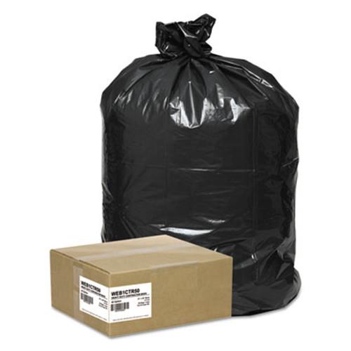 Handi-Bag Super Value Pack Contractor Bags  42 gal  2 5 mil  33  x 48   Black  50 Carton (WEB 1CTR50)