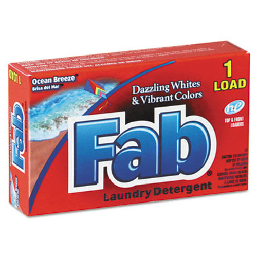 Fab Dispenser-Design HE Laundry Detergent Powder  Ocean Breeze  1 oz Box  156 Carton (VEN 035690)