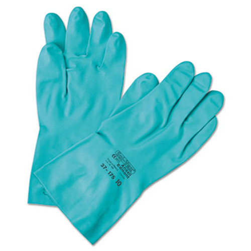 AnsellPro Sol-Vex Sandpatch-Grip Nitrile Gloves, Green, Size 7 (ANS371857)