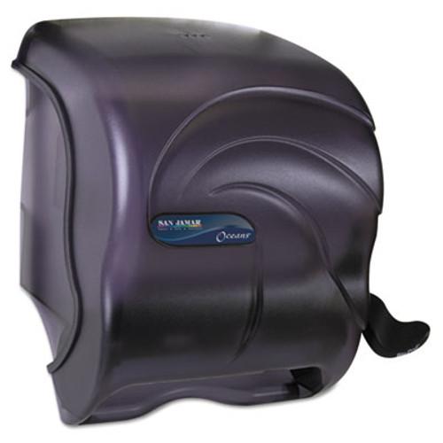 San Jamar Element Lever Roll Towel Dispenser  Oceans  Black  12 1 2 x 8 1 2 x 12 3 4 (SAN T990TBK)