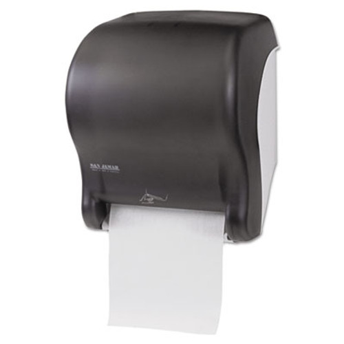 San Jamar Smart Essence Electronic Roll Towel Dispenser, 14.4hx11.8wx9.1d, Black, Plastic (SJMT8400TBK)