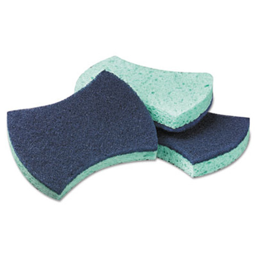 "Scotch-Briteâ""¢ PROFESSIONAL Power Sponge, Teal, 2 4/5 x 4 1/2, 5/Pack (MMM3000CC)"