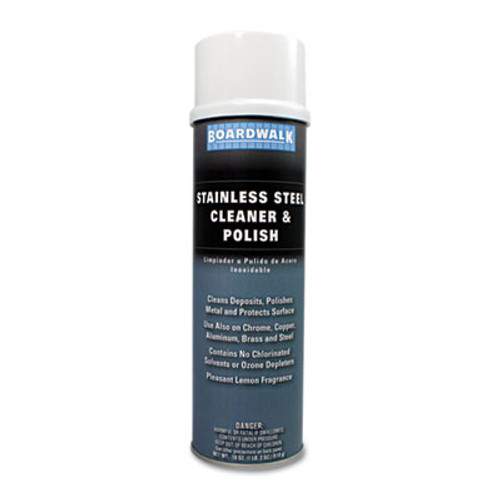 Boardwalk Stainless Steel Cleaner   Polish  Lemon  18oz Aerosol (BWK347AEA)