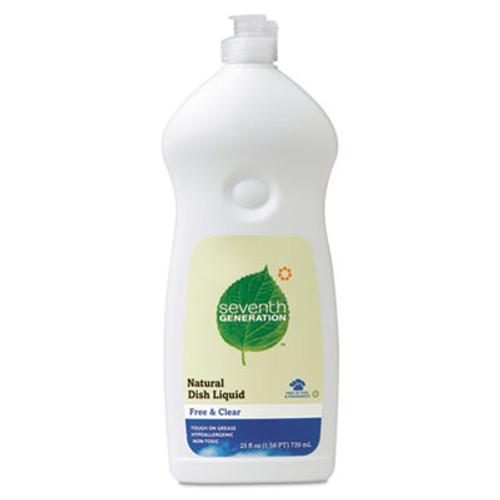 Seventh Generation Natural Dishwashing Liquid  Free and Clear  25 oz Bottle (SEV22733EA)