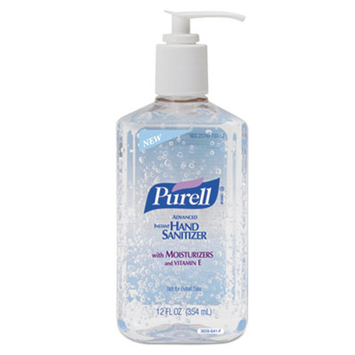 PURELL Advanced Hand Sanitizer Refreshing Gel  Clean Scent  12 oz Pump Bottle (GOJ365912EA)