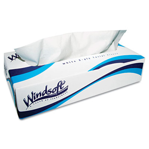 Windsoft Facial Tissue  2 Ply  White  Pop-Up Box  100 Sheets Box  6 Boxes Pack (WIN 2430)