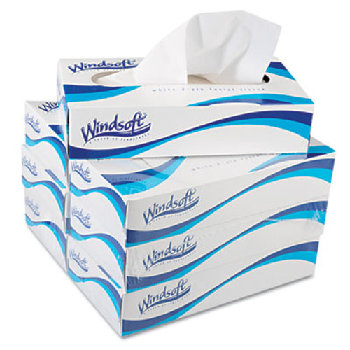 Windsoft Facial Tissue in Pop-Up Box, 100/Box, 6 Boxes/Pack (WIN 2430)