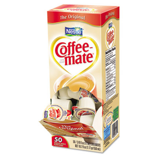 Coffee mate Liquid Coffee Creamer  Original  0 38 oz Mini Cups  50 Box  4 Boxes Carton  200 Total Carton (NES 35110)