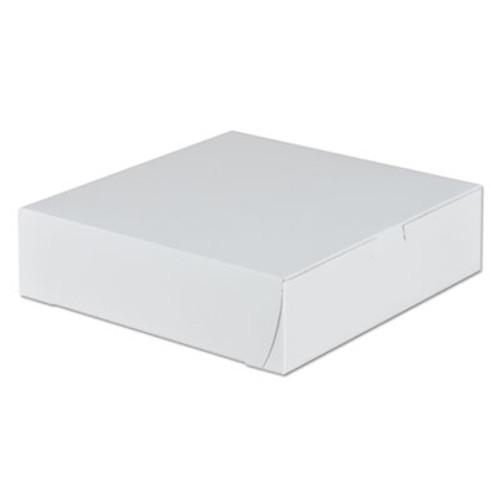 SCT Tuck-Top Bakery Boxes  9w x 9d x 2 1 2h  White  250 Carton (SCH 0953)