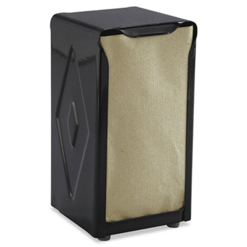San Jamar Tabletop Napkin Dispenser  Tall Fold  3 3 4 x 4 x 7 1 2  Capacity  150  Black (SAN H900BK)