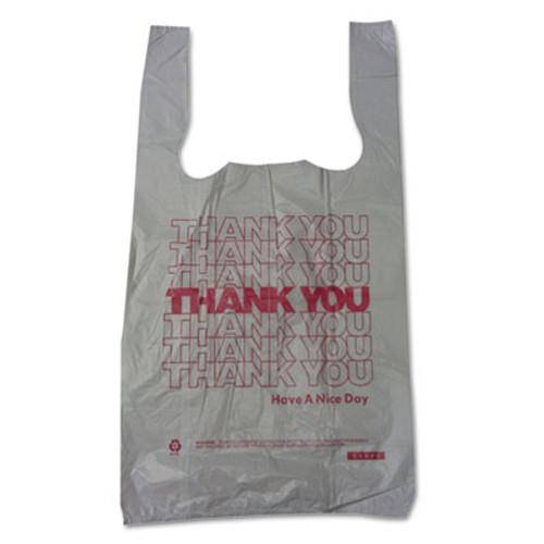 Barnes Paper Company Plastic Thank-You T-Sack  2 mil  4  x 15   White  2 000 Carton (BPC 6415THYOU)