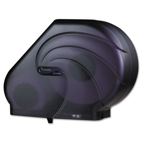 San Jamar Oceans Reserva Jumbo Tissue Dispenser w/Stub, 16-3/4x5-1/2x12-1/4, Black Pearl (SAN R3090TBK)