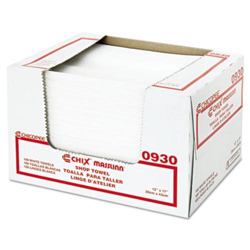Chix Masslinn Shop Towels  12 x 17  White  100 Pack  12 Packs Carton (CHI 0930)