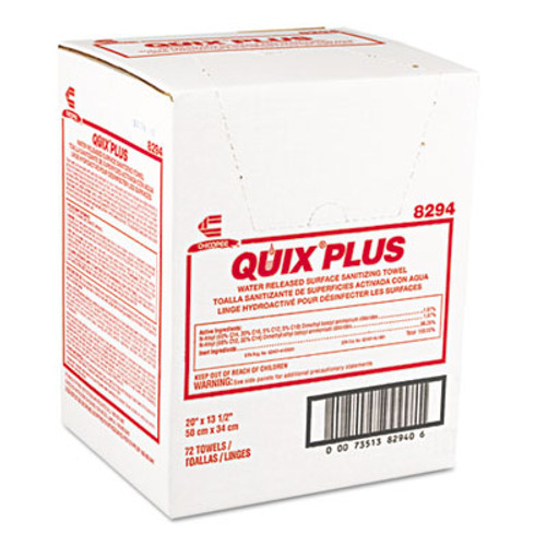 Chix Quix Plus Cleaning and Sanitizing Towels  13 1 2 x 20  Pink  72 Carton (CHI 8294)