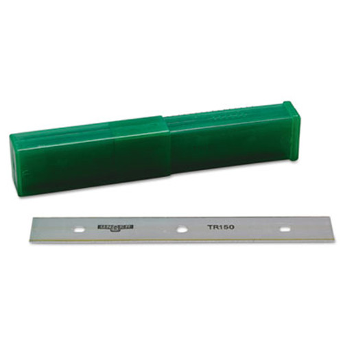 "Unger ErgoTec Glass Scraper Replacement Blades, 6"" Double-Edge, 25/Pack (UNG TR15)"