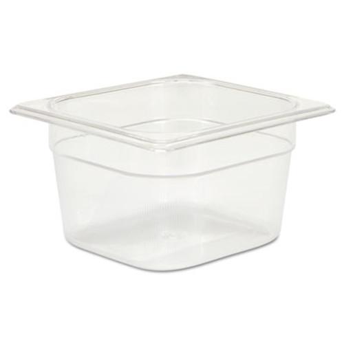 Rubbermaid Commercial Cold Food Pans  1 2 3qt  6 3 8w x 6 7 8d x 4h  Clear (RCP 105P CLE)