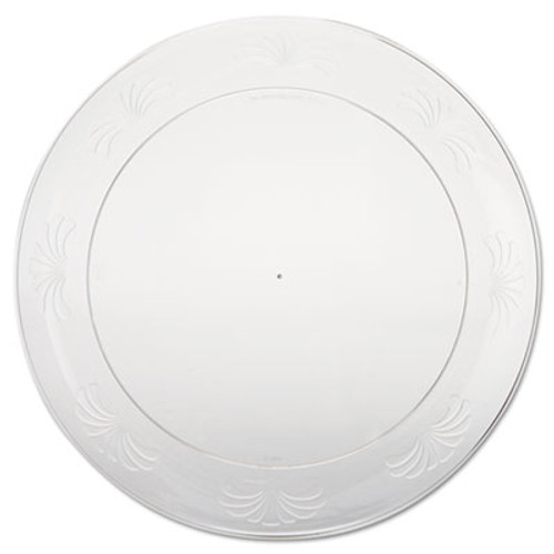 WNA Designerware Plastic Plates  9 Inches  Clear  Round (WNA DWP9180)